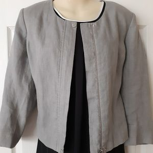Vince Camuto Collarless Linen Jacket sz 10P
